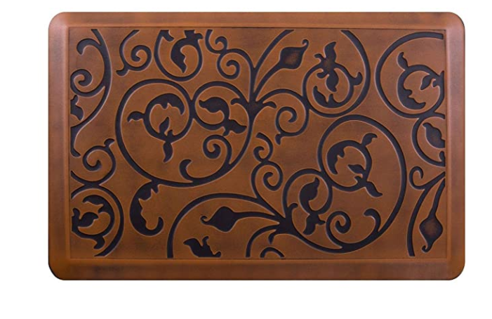 AMCOMFY Anti Fatigue Kitchen Mat Cushioned, Comfort Stove Floor Mats, Standing Mats, Antique Light