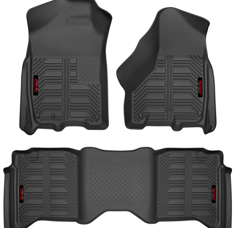 Gator Accessories 79602 Gator Front and 2nd Seat Floor Liners Fits 09-18 Ram 1500 Crew Cab