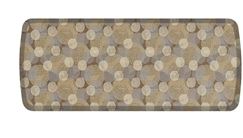 """GelPro Elite Premier Anti-Fatigue Kitchen Comfort Floor Mat, 20x48"""", Blossom Stone/Ivory Stain Resistant Surface with Therapeutic Gel and Energy-return Foam for Health and Wellness"""