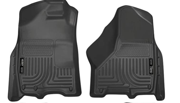 Husky Liners 99001 Black Weatherbeater Front & 2nd Seat Floor Liners Fits 2009-2018 Dodge Ram 1500
