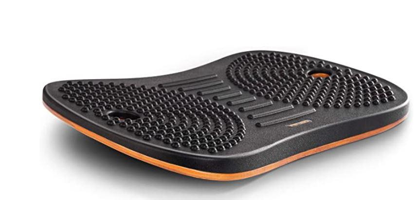 FEZIBO Standing Desk Anti Fatigue Mat Wooden Wobble Balance Board Stability Rocker with Ergonomic Design Comfort Floor Mat
