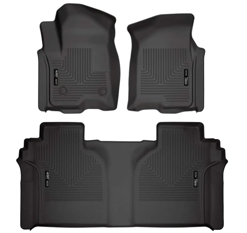 Carpeted Factory Storage Box Weatherbeater Front & 2nd Seat Floor Mats