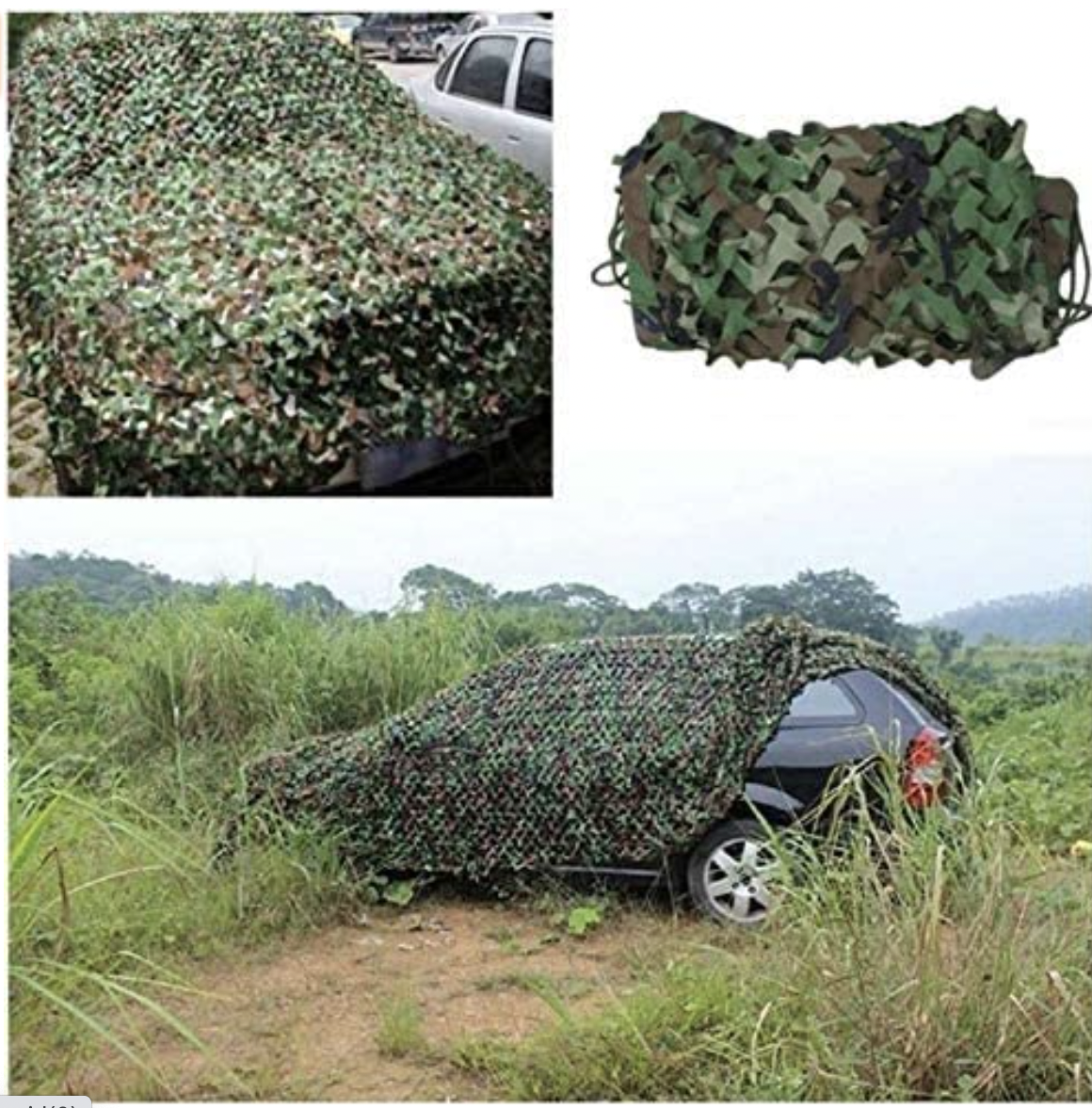 COLIBROX 20X13 FT Woodland Shooting Hide Army Camouflage Net Hunting Cover Camo Netting